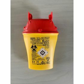Sharps container POCKET 0,4 L -  yellow/red