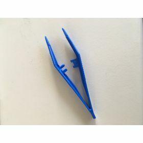 Forceps plastic PP 82mm blue, unsterile