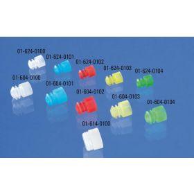 Plug ribbed D16mm blue