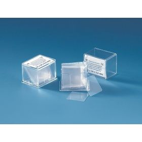 Haemacytometer cover glass for counting chamber, 24x24mm
