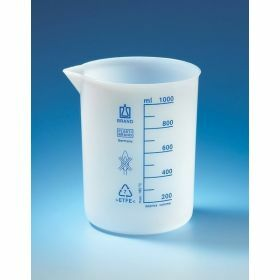 Beaker, low form, ETFE 1000 ml:100 ml with graduat
