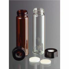 vials 40ml clear glass, screw thr.