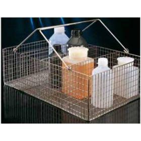 Inox basket,rectang.4 comp ,480x300x150mm,+ handle