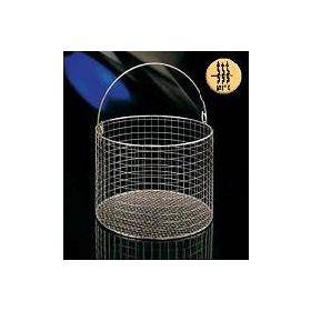 inox basket, round, H125mm,diam.150mm, with handle