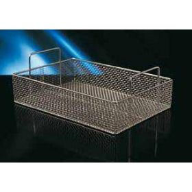 Inox instrument tray 360x260x80mm with handles