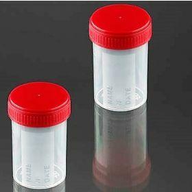 Container 60ml PP red screw cap
