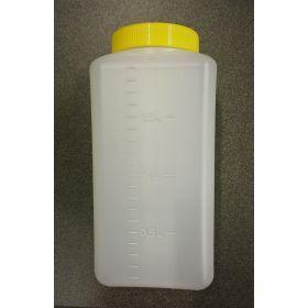 Bottle 24h PE 2L grad.+yellow leakproof screwcap