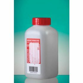 Bottle 500ml HDPE with sodium thiosulfate 20mg/l, sterile, leakproof screw cap