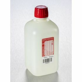 Bottle 500ml HDPE 20mg/l with sodium thiosulfate, sterile/1, shaped seal screw cap