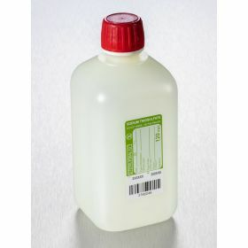 Bottle 500ml HDPE with sodium thiosulfate 120mg/l, sterile, shaped seal screw cap