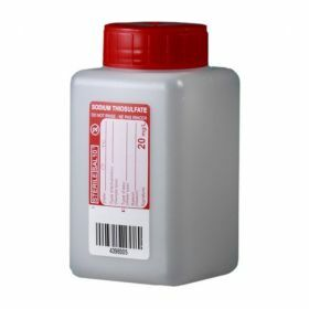Bottle 250ml HDPE with  sodium thiosulfate 20mg/l, sterile/1, leakproof screw cap with wad