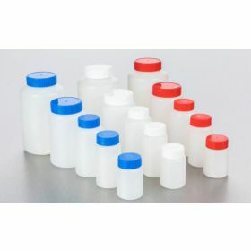 Square bottle HDPE 500ml, blue screw cap with seal