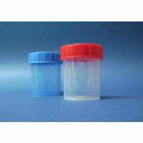 Container 125ml PP, red screw cap, sterile