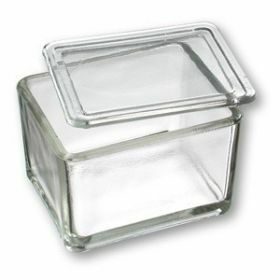 Heinz Herenz Staining glass box + lid 70x105x85mm