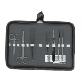 Dissecting set standard with zipper closure