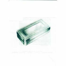 inox instrument box for sterilization 130x60xH40mm