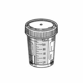 Container 120 ml PP with white screw cap