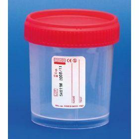 Container 120ml PP red screw cap, GST