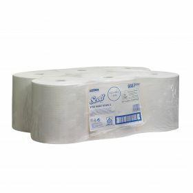Scott roll hand towels,304mx20cm, white,1ply