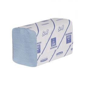 Hand towels Scott Xtra, blue, interfold, 1-ply, 31.5 x 20cm