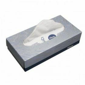 Facial tissue Kleenex 2-ply, white, 21.5 x 18.6cm