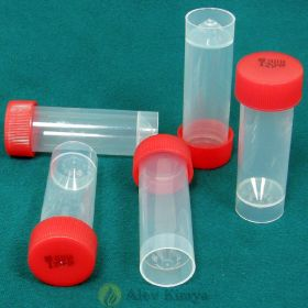 Container conical PP 80x25mm, screw cap, sterile