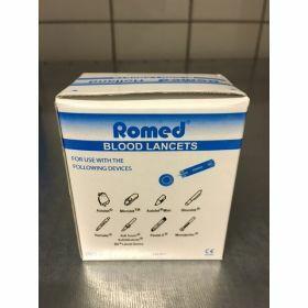 Blood lancet blue ROMED