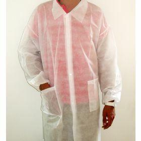 Disposable lab coat non-woven L