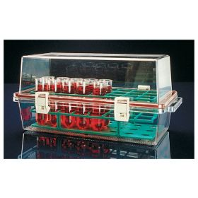 Bio carrier with tray, polycarbonate, 370x185x173mm
