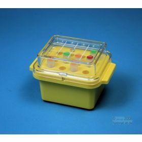 Minicooler 12x 0,5>2ml red PC+lid w/o gel -20°C