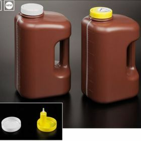 container 24h urine, 3 litres , brown, for vacuum collection