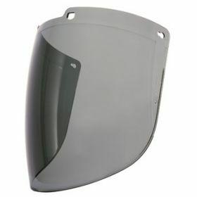 Honeywell Turboshield - gray polycarbonate visor - outdoor