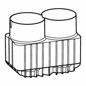 Epp SET: 2 Adapters 2x bottle 250ml  and 175-225ml conical tubes for rotor Universal-Large