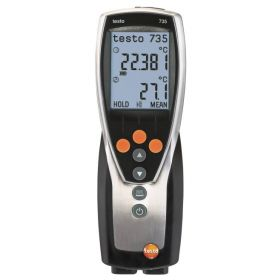 Testo 735-2 thermometer, 3 channels incl. accessories