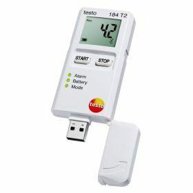 Testo 184-T2 USB temperature datalogger with display, 150 days, 70°C