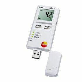 Testo 184-H1 USB temperature and humidity data logger with display, unlimited operating time, 70°C