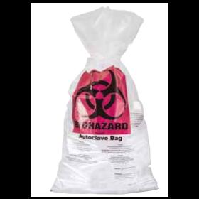autoclavable bag PP 700x1100mm (110L) + label Biohazard