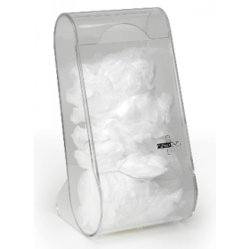 Soft cover safety dispenser in acrylic