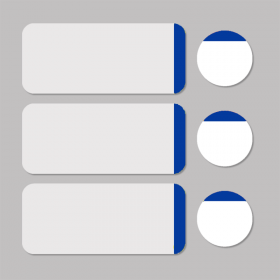 Label white/blue round D11mm + rectangle 33x13mm 500pcs