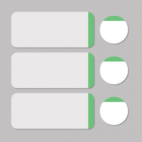 Label white/green round D11mm + rectangle 33x13mm 500pcs