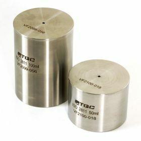 Pycnometer 100ml stainless steel ISO2811