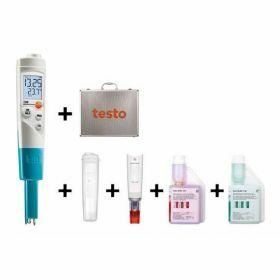Testo 206-pH1 SET - Handheld T-bar pH meter, 60°C/14pH