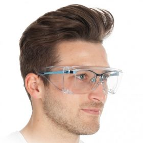 Multipurpose safety goggles for wearers of glasses