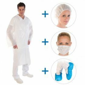 Visitor kit polyethylene white (4pcs/set)