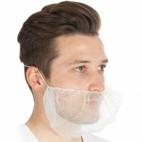 Beard mask PP nonwoven white 46cm x 20cm