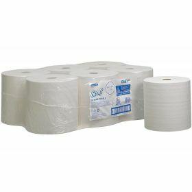 Scott XL roll hand towels,354mx20cm, white, 1ply