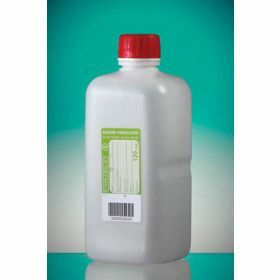 bottle1000ml HDPE with sodium thiosulfate 120mg/l, sterile, shaped seal screw cap