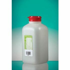 Bottle 500ml HDPEwith sodium thiosulfate 120mg/l, sterile/1, hinged cap with safety ring