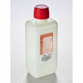 Bottle 250ml HDPE rectangular with sodium thiosulfate 20mg/l, sterile/1, shaped seal screw cap