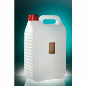 Jerrycan 5000ml HDPE with sodium thiosulfate 20mg/l, sterile, tamper-evident screw cap